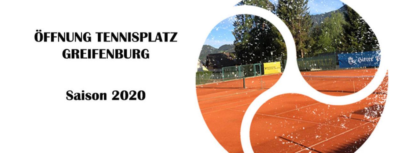 Öffnung Tennisplatz