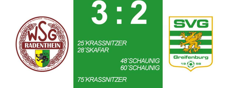 Unglückliche 3:2 Niederlage